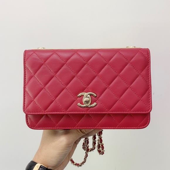 0fc76b6f0f4e6a CHANEL Bags | Red Quilted Lambskin Trendy Cc Woc | Poshmark